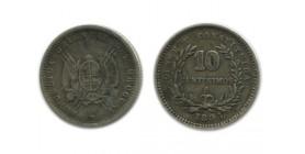 10 Centimes Uruguay Argent