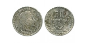 50 Centimes Uruguay Argent