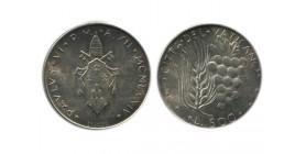 500 Lires Paul VI Vatican Argent