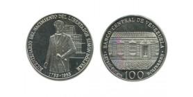 100 Bolivars Vénézuela Argent