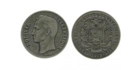 2 Bolivars Vénézuela Argent
