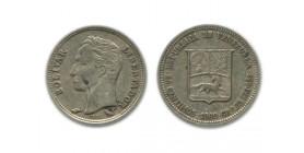 25 Centimes Vénézuela Argent