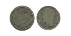 50 Centimes Vénézuela Argent