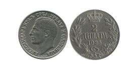 2 Dinars Alexandre I Yougoslavie