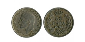 50 Para Alexandre I yougoslavie