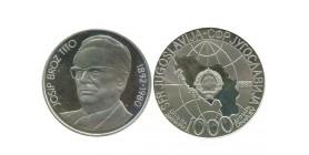 1000 Dinars Yougoslavie - Argent