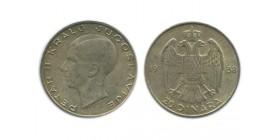 20 Dinars Pierre II Yougoslavie - Argent