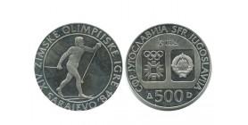 500 Dinars Yougoslavie - Argent