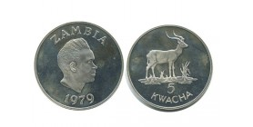 5 Kwacha Zambie - Argent