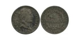1 Franc Napoleon Ier Tête Laurée Revers République