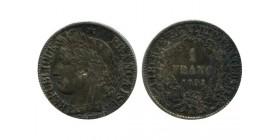 1 Franc Ceres Deuxième République