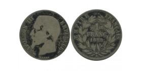 1 Franc Napoleon III Tête Nue Second Empire
