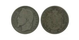 1 Franc Napoleon III Tête Laurée Second Empire
