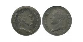 1 Franc Napoleon Ier Tête Laurée Revers Empire - Premier Empire