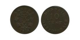 10 Centimes Louis XVIII Siège D'anvers - Sans Point
