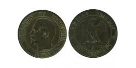 10 Centimes Napoleon III Tête Nue Second Empire