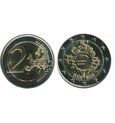 2 Euros 10ème Anniversaire Belgique