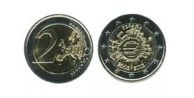 2 Euros 10ème Anniversaire Espagne