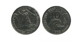 10 Francs Republique Variété pointe de Bretagne touchant le Listel