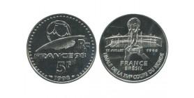 5 Francs Finale XVI Coupe du Monde France Brésil Coupe du Monde de Football