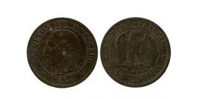 2 Centimes Napoleon III Tête Nue Second Empire
