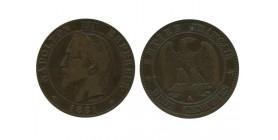 2 Centimes Napoleon III Tête Laurée Variété Pointe du Buste Alignée