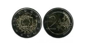 2 Euros Les 30 ans du Drapeau lettonie