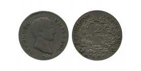 2 Francs Napoleon Empereur Calendrier Grégorien