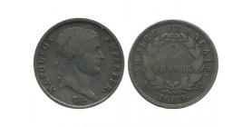 2 Francs Napoleon Ier Tête Laurée Revers Empire Premier Empire