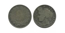 2 Francs Ceres Sans Légende Gouvernement de Défense Nationale