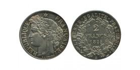 2 Francs Ceres Avec Légende Troisième République