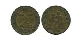 2 Francs Chambre de Commerce Troisième République