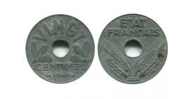 20 Centimes Etat Français type Vingt