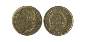 20 Francs Napoléon Ier Tête Laurée Revers République
