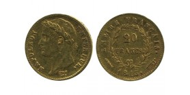20 Francs Napoléon Ier Tête Laurée Revers Empire