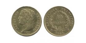 40 Francs Napoléon Ier Tête Laurée Revers République