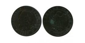 5 Centimes Napoleon III Tête Nue Deuxième Empire