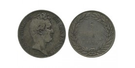 5 Francs Louis Philippe Ier Tête Nue Sans le I - Tranche En Cre