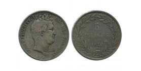 5 Francs Louis Philippe Ier Tête Nue Sans le I - Tranche En Creu