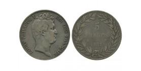 5 Francs Louis Philippe Ier Tête Nue Tranche En Creux