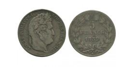 5 Francs Louis Philippe Ier Tête Laurée Tranche En Relief