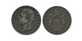 5 Francs Napoleon III Tête Nue Second Empire