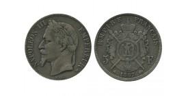 5 Francs Napoleon III Tête Laurée Second Empire