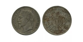 5 Francs Napoleon III Tête Laurée Second Empire
