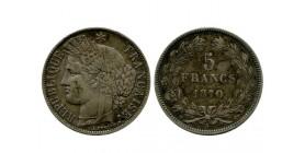 5 Francs Ceres Sans Légende Gouvernement de Défense Nationale