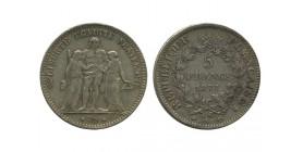 5 Francs Hercule Troisième République