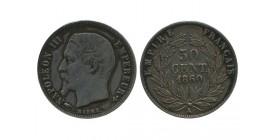 50 Centimes Napoleon III Tête Nue Second Empire