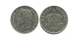 50 Centimes Napoleon III Tête Laurée Second Empire