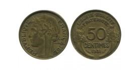 50 Centimes Morlon Bronze Aluminium Variété Avec Raisin