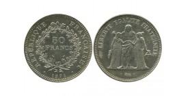 50 Francs Hercule Variété Avers de la 20 Francs